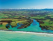Opihi River mouth north of Timaru Canterbury New Zealand