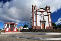 The Santo Antao church, in the town of Vila do Porto  Santa Maria island, Azores, Portugal