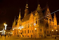 Town Hall and marketplace in Wroclaw, Poland  Late Gothic with elements of Renaissance  South and ast elevation
