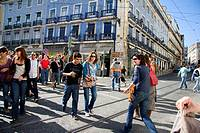 People, street crossroads, Barrio alto, Lisbon, Portugal