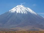 Licancábur volcano, from San Pedro de Atacama, Chile.