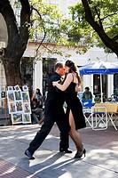 Tango dancers, San Telmo neightborhood, Buenos Aires, Argentine