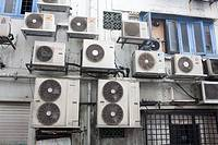 Airconditioning units on buildings