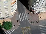 aerial views street
