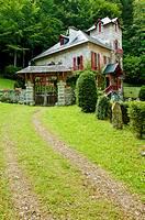 Vista de la Villa de la Emperatriz, Eaux Bonnes, Francia.