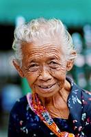 A smiling elderly woman, Yogyakarta, Indonesia