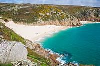 Porthcurno Beach. Strand. Cornwall. England. UK.