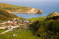 View of Lulworth Cove. Dorset. England. UK.
