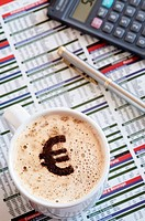 Coffee with Euro Sign