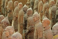Rows of Terra Cotta Warriors in Xi´an China