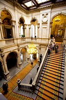 L´escala d´honor (Honor staircase). Ajuntament de Barcelona. (City hall). Catalonia. Spain.