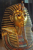 Death mask of Tutankhamun. Egyptian Museum. Cairo. Egypt