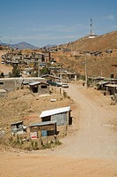 Nogales, Sonora, Mexico - The Rosarito colonia, or neighborhood, on the hills above Nogales  Residents usually have electricity, but there is no runni...