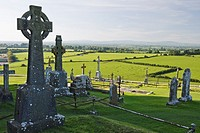 View from Rock of Cashel on the surrounding area, County Tipperary, Ireland