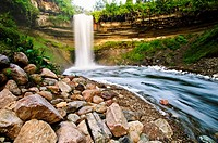 53 foot tall Minnehaha falls on Minnehaha Creek  The translation of the name is ´curling water´ or ´waterfall´  The name comes from the Dakota languag...