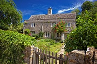 Cottages in Lacock, Wiltshire, England, UK