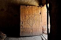 Maroc, Haut Atlas, Province de Ouarzazate, Ksar d´Aït-Ben-Haddou, classé Patrimoine Mondial de l´UNESCO, intérieur d´une Kasbahh