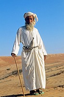 old bedouin man in Wahiba sands,Sultanate of Oman,Arabian Peninsula,southwest Asia
