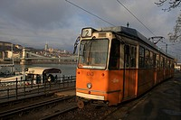 Budapest, Hungary - The yellow tram  Budapest has safe, efficient and inexpensive public transport