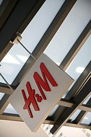 H & M store sign