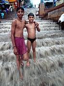 Ghat, Ganges river, Varanasi, Uttar Pradesh, India