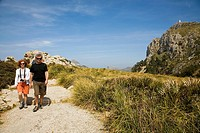 Mal Pas viewpoint in Formentor cape.  Serra de Tramuntana (World Heritage Site by UNESCO). Mallorca. Balearic Island. Spain.