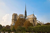 france, paris, Notre Dame, façade sud