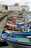 Fishing port at La Coruna (Spain)