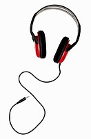 Headphones Against a White Background