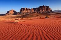 Mount Rum in Wadi Rum (Jordan).