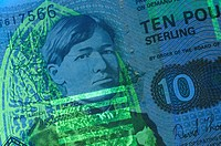 Invisible fluorescent inks are used in complicated and often beautiful designs on bank notes, currency and passports as part of a host of security mea...