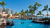 Swimming Pool  Waikiki Beach  Honolulu O´ahu Hawaii  United States