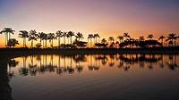 Waikiki Beach Sunset  Honolulu  O´ahu  Hawaii  United States