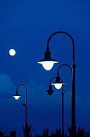 Street lamps at dusk