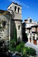 Canonjias Romanesque area with St Nicholas church, Segovia. Castilla-Leon, Spain
