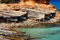 Cala Saona  Formentera  Islas Baleares  España / Cala Saona Saona Cove Formentera  Balearic Islands  Spain