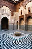 Bou Inania Madrasah, courtyard, medina, Fez, Morocco