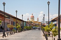 La Calzada is a street with numerous restaurants and bars in Granada Nicaragua