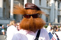 Jack Passion, at a parade showcasing contestants in the World Beard and Moustache Championships, 2007, in London, England