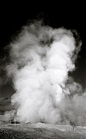 The a geyser in the Atacama Desert on the border area of Bolivia and Chile in South Latin America