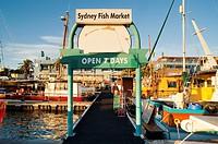 Fish Market piers, Sydney, New South Wales, Australia