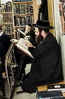 Studying the Torah in a Yeshiva in Mea Shearim neighborhood in Jerusalem.