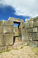 Inca stone edifice, Sacsayhuaman, Cuzco, Peru