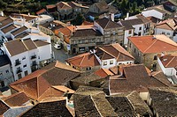 Overview of Celorico da Beira village from the castle, in Beira Alta  Guarda District  Portugal
