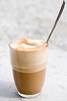 A glass of Caffe Latte
