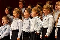 Chorus performing at Teatre Principal, Palma de Mallorca, Majorca, Balearic Islands, Spain