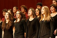 Chorus performing at Teatre Principal, Palma de Mallorca, Majorca, Balearic Islands, Spain