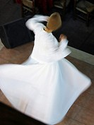 Whirling Dervishes, performing in the street, Istanbul, Turkey