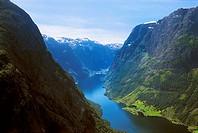 Naeroyfjord, Hordaland, Norway