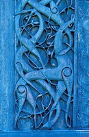 Norway, Sogn og Fjordane, World Heritage Site, Urnes Stave Church, Carved Doorway 11th Century